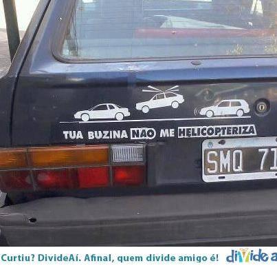 Buzina não faz o carro voar